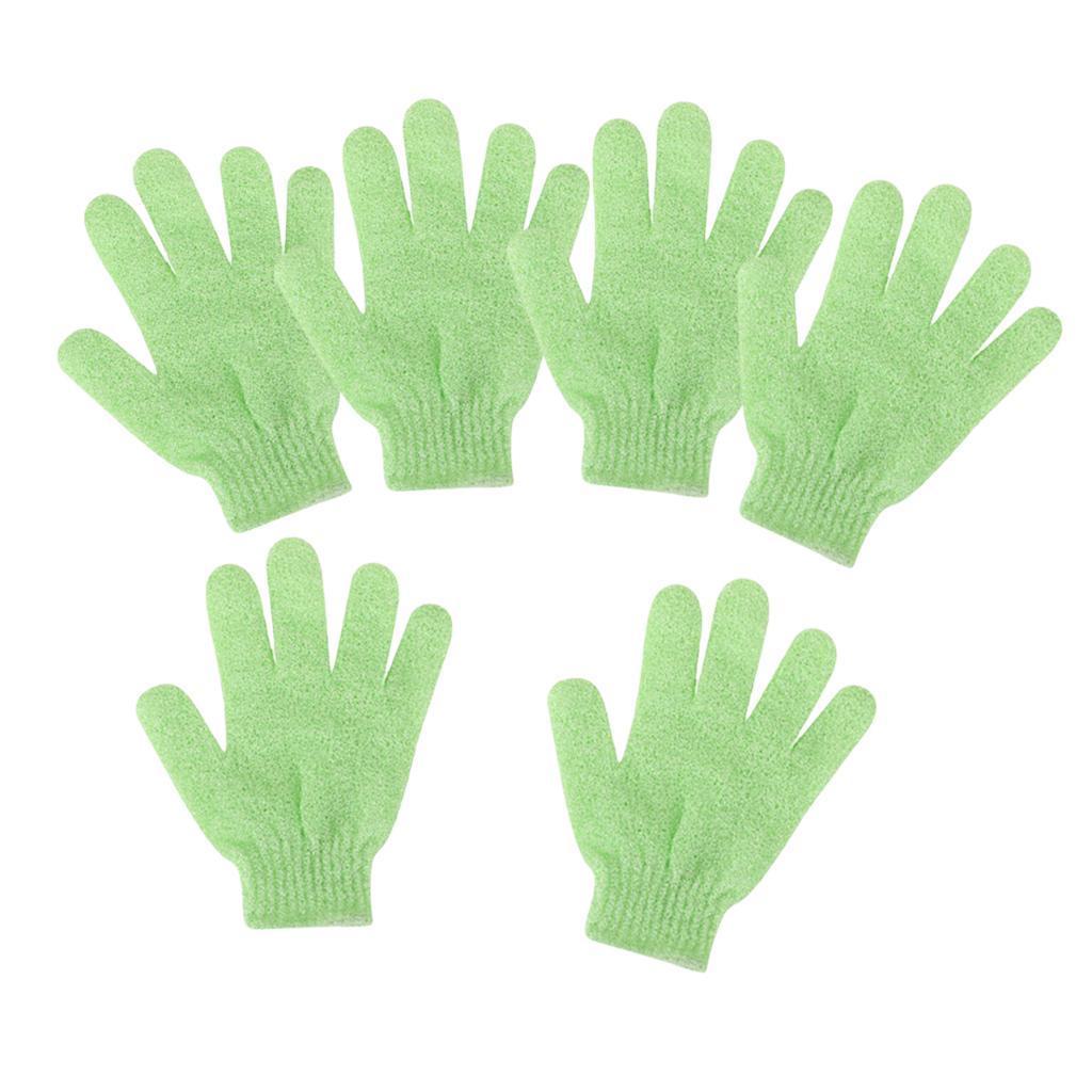 miniatura 16 - 3 Paia Di Guanti Esfolianti Per Il Corpo Body Spa Glove Dry Skin Brush Scrubber
