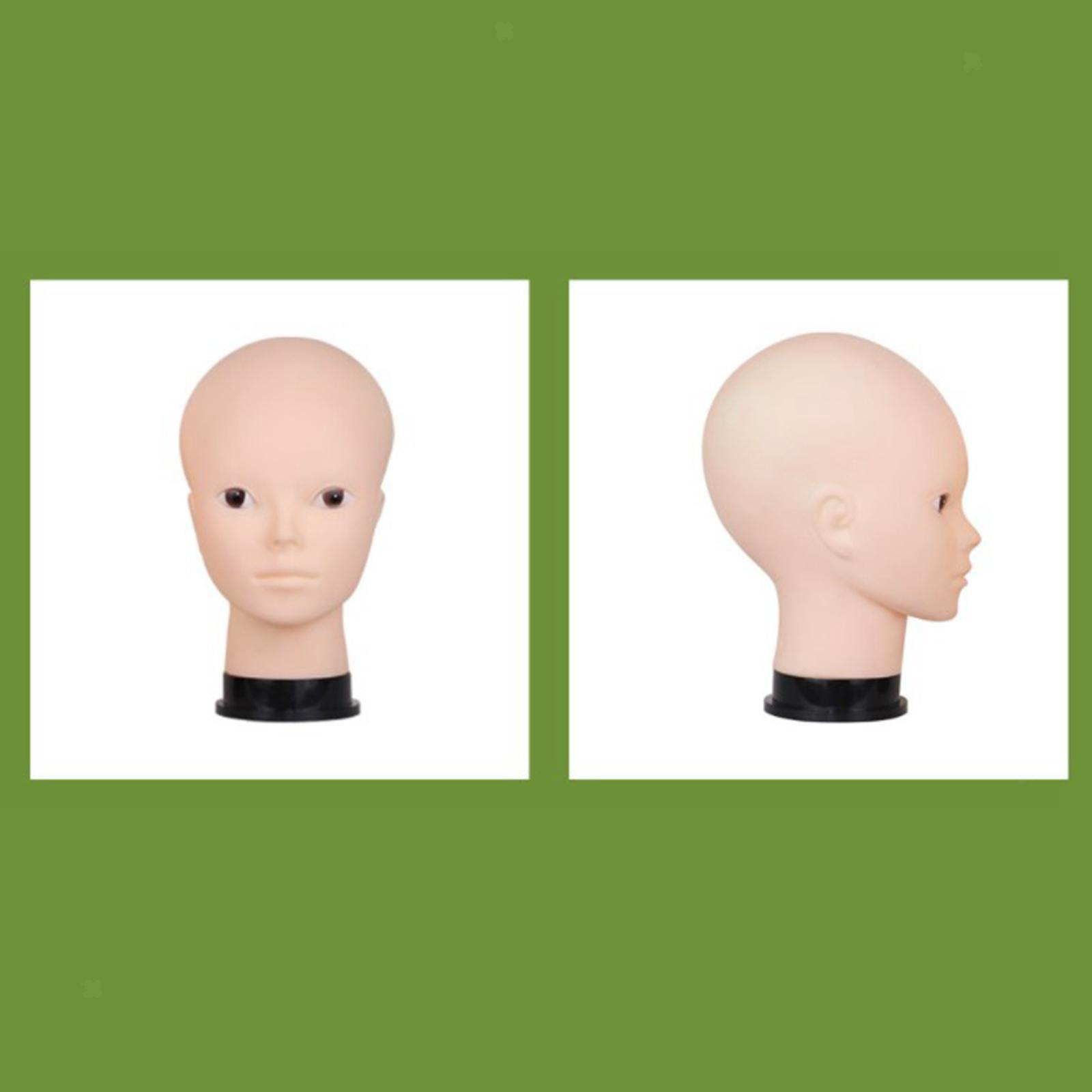 thumbnail 7 - Male-female bald mannequin head wigs hats glasses scarves jewelry