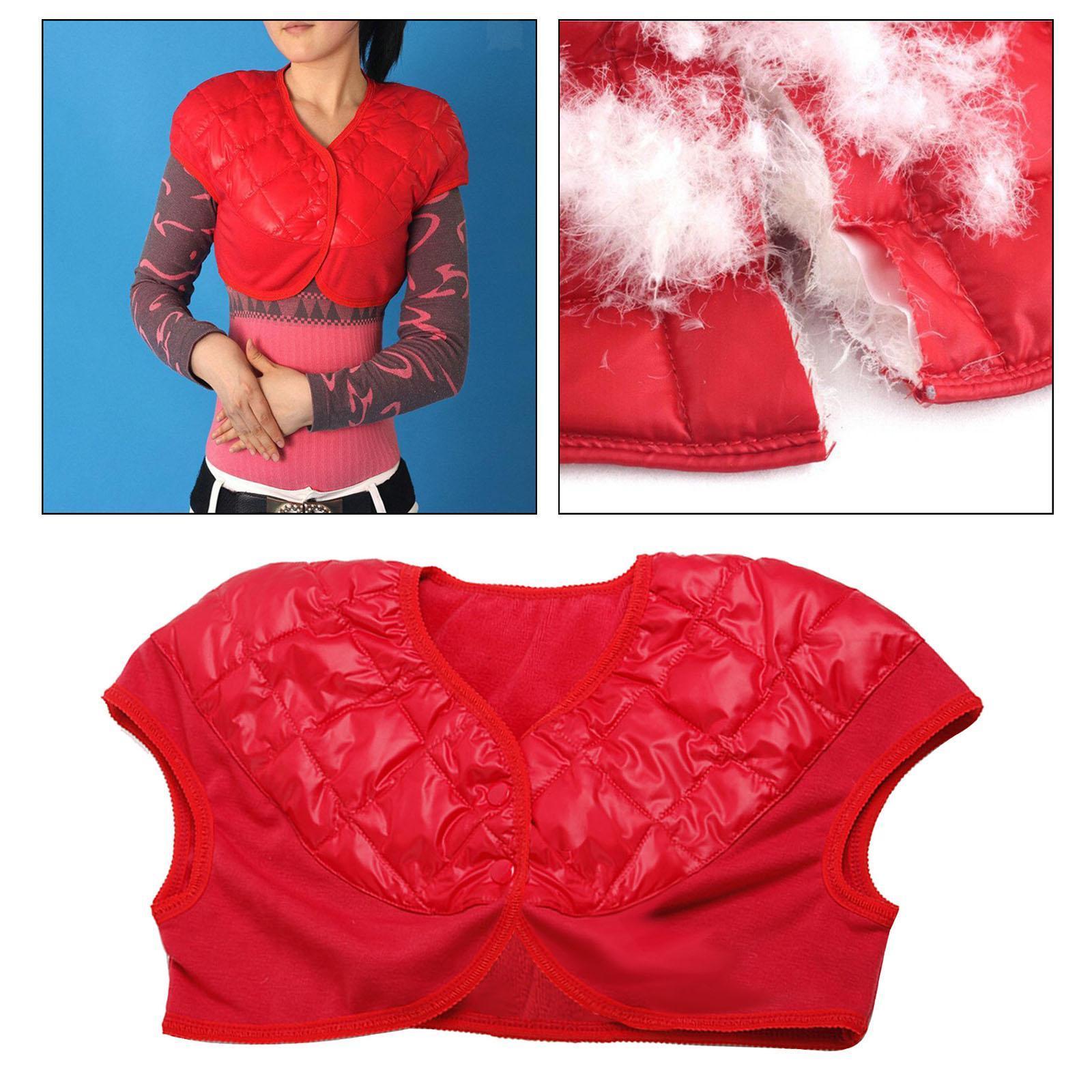 Femmes-Hommes-Down-Jacket-Chaud-Manteau-Court-Epaule-Chaud-Thermique-Wrap miniatura 48