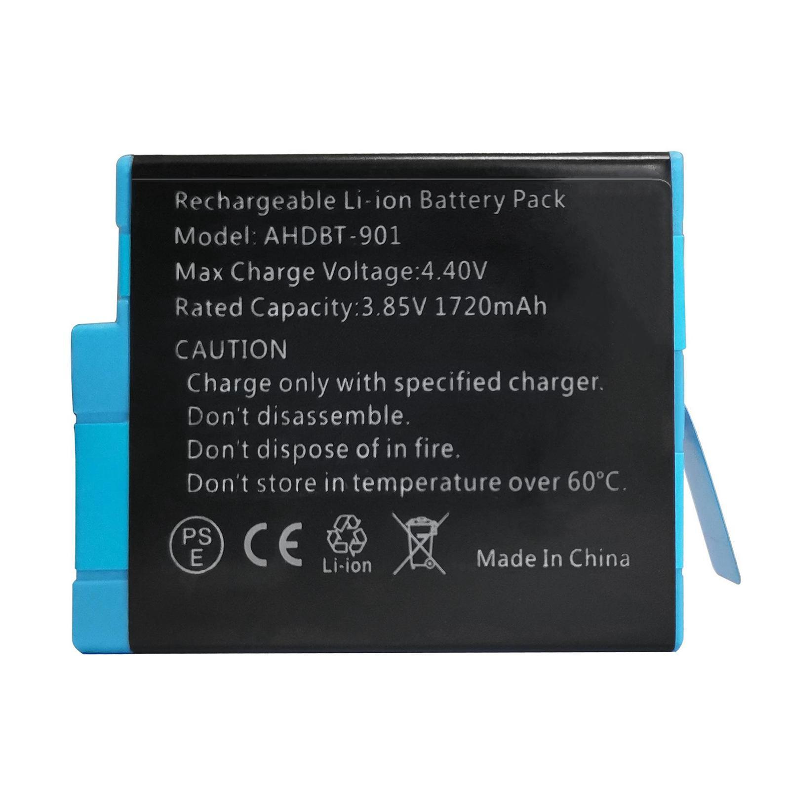 thumbnail 12 - Replace Batteries 1720mAh USB Quick Charger with Cord for   Hero 9 -Black