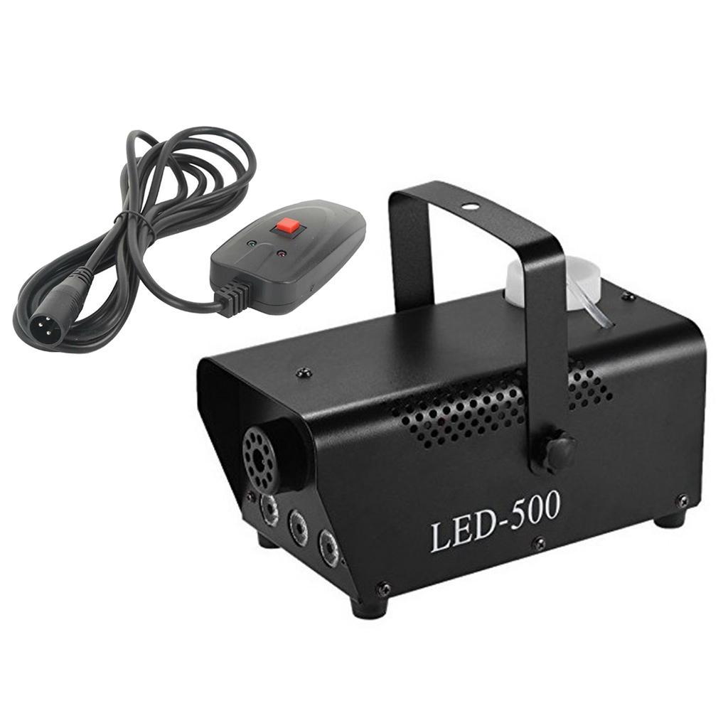 Plastic 500W Fog Smoke Machine RGB LED Light Christmas Disco Effect Remote