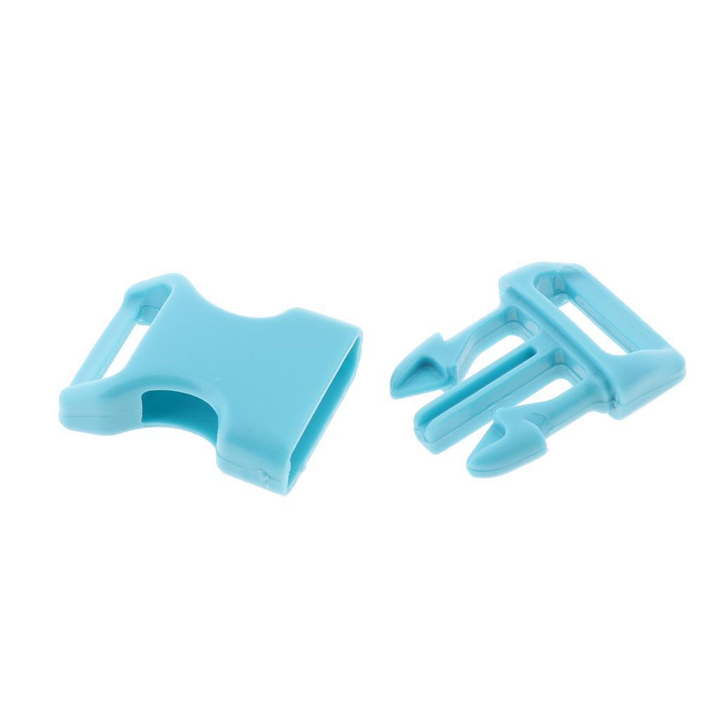 "10x 5//8/"" Side Release Buckle DIY Tool Webbing Strap Dog Collar Paracord Bracelet"
