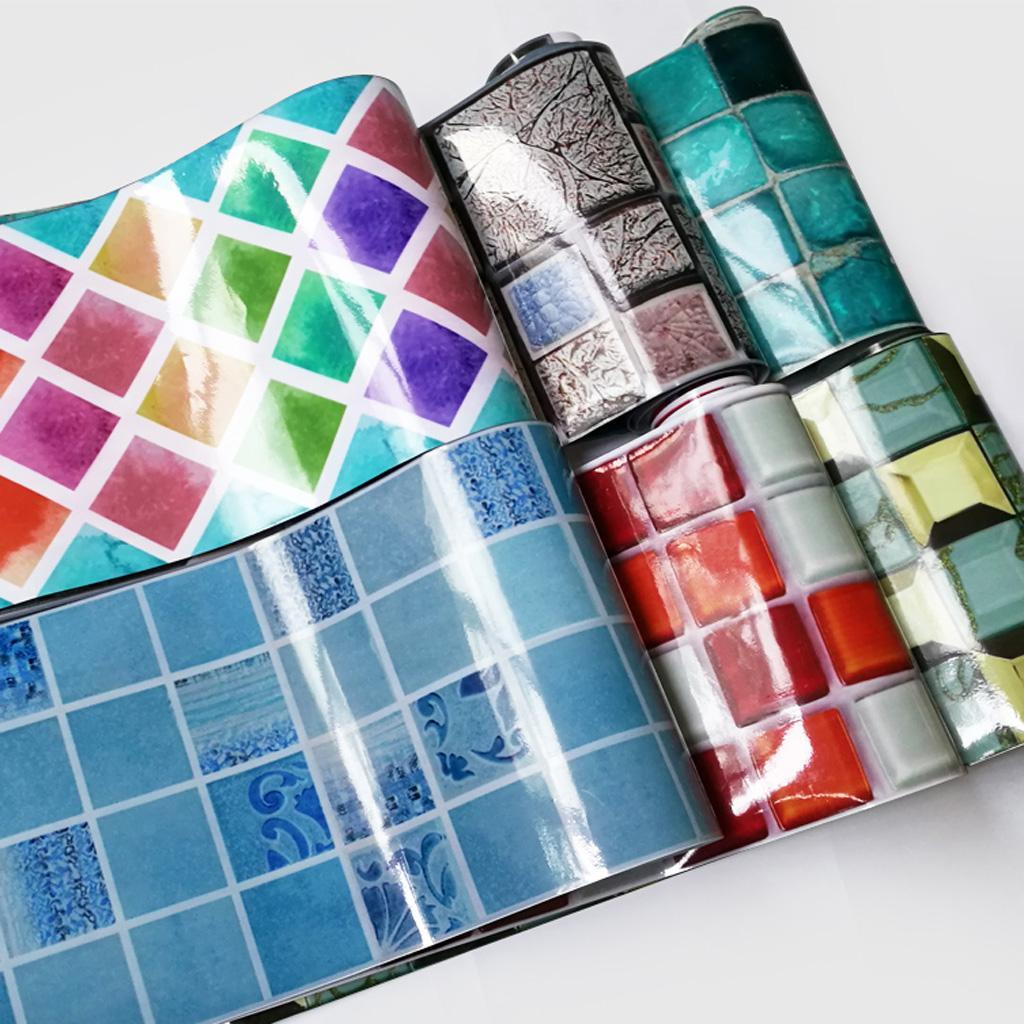 Removable Adhesive 3D Brick Mosaic Tile Wall Paper Wall Sticker Decal 500x20cm