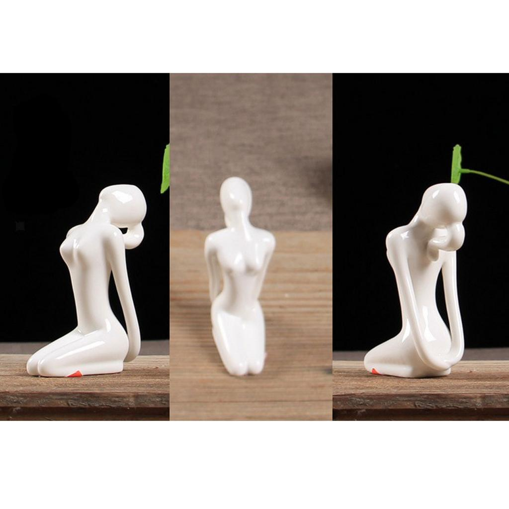 Ceramic-Yoga-Figurine-Statue-Collections-Craft-Gift-Home-Zen-Garden-Decor thumbnail 30