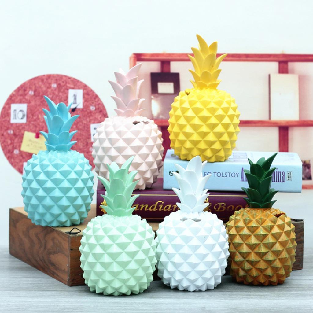 miniatura 9 - Resina A Forma Di Ananas Figurine Manufatti Per Arredamento Salvadanai