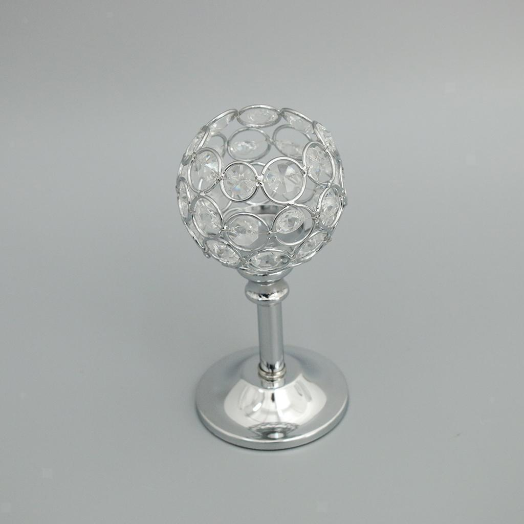 CRYSTAL-TABLE-STAND-CANDLE-HOLDER-CANDLESTICK-WEDDING-HOLIDAYS-CHRISTMAS-EVENTS thumbnail 8