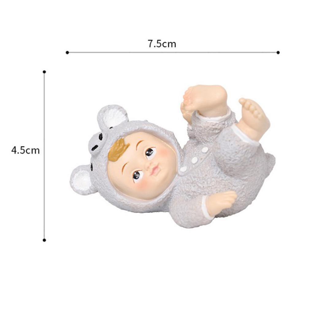 Harz-Mini-Baby-Puppe-Statue-Miniatur-Puppenhaus-Bonsai-Handwerk-Fee-Garten Indexbild 12