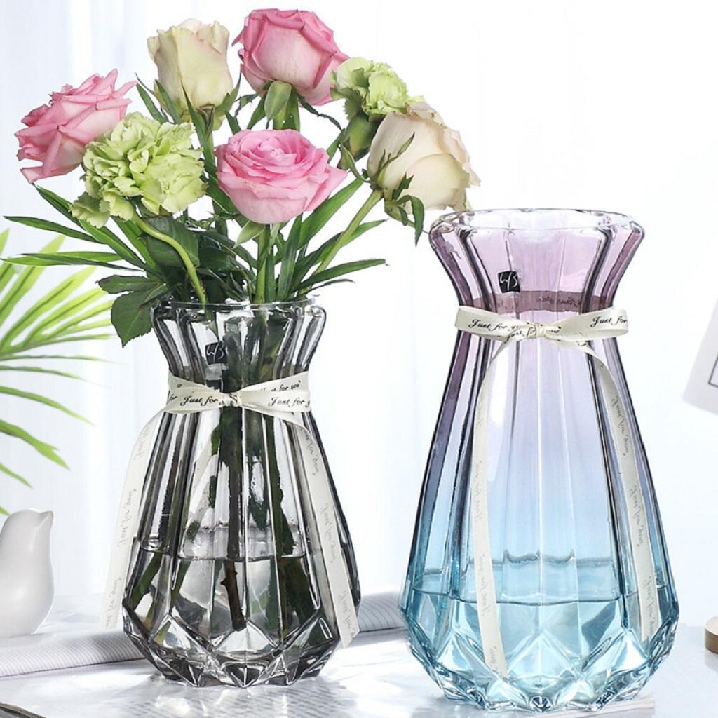 Style Transparent Minimalist Glass Vases Flower Creative Decor For Bar Ebay