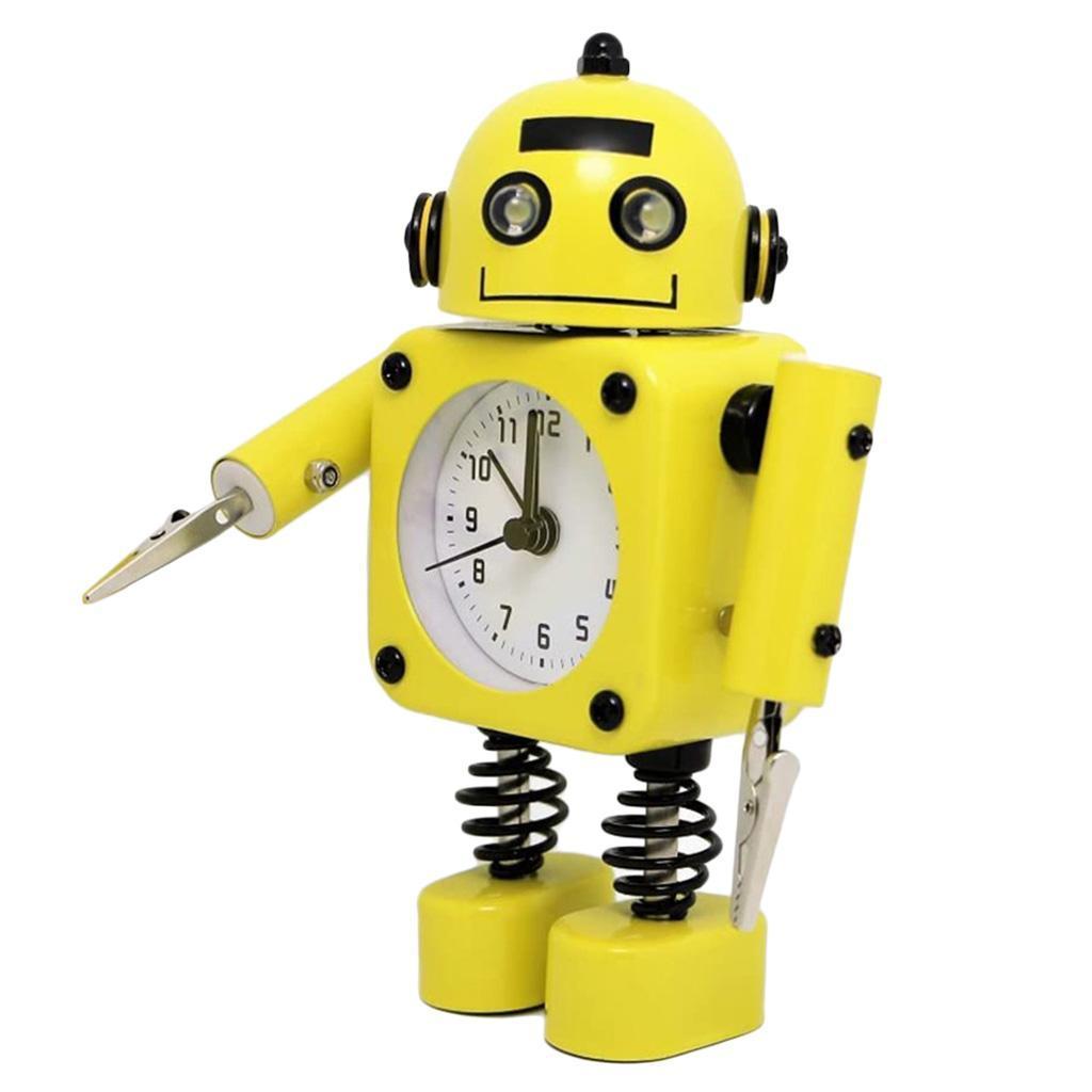 Robot-Del-Fumetto-Non-Ticchettio-Sveglia-Da-Comodino-Camera-Da-Letto-Di-Casa miniatura 4