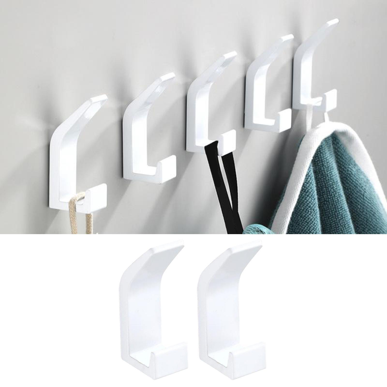 60Pcs Kitchen Bathroom Towel Wall Hooks Hanger Rack Holder Stick Self Adhesive