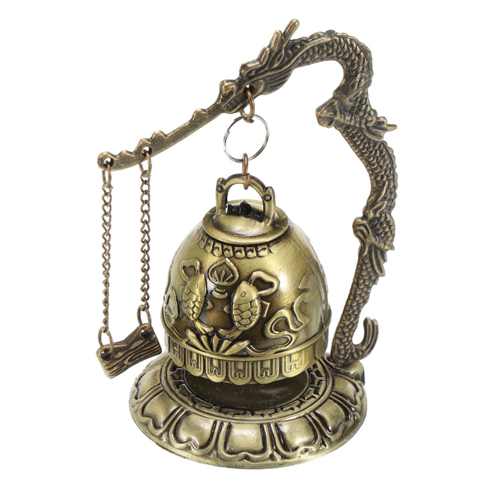 miniatura 40 - Buddha Drago Fengshui campana giocattoli tibetano per Home GIARDINO