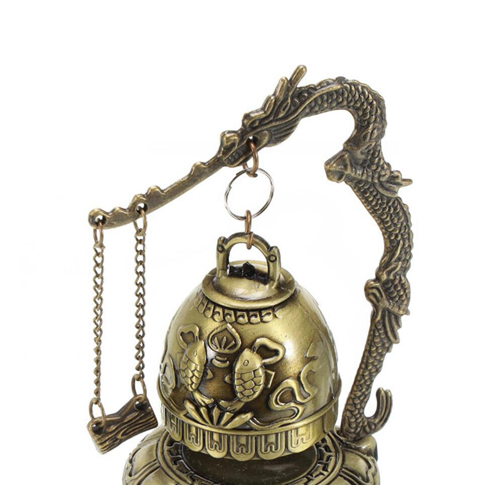 miniatura 37 - Buddha Drago Fengshui campana giocattoli tibetano per Home GIARDINO