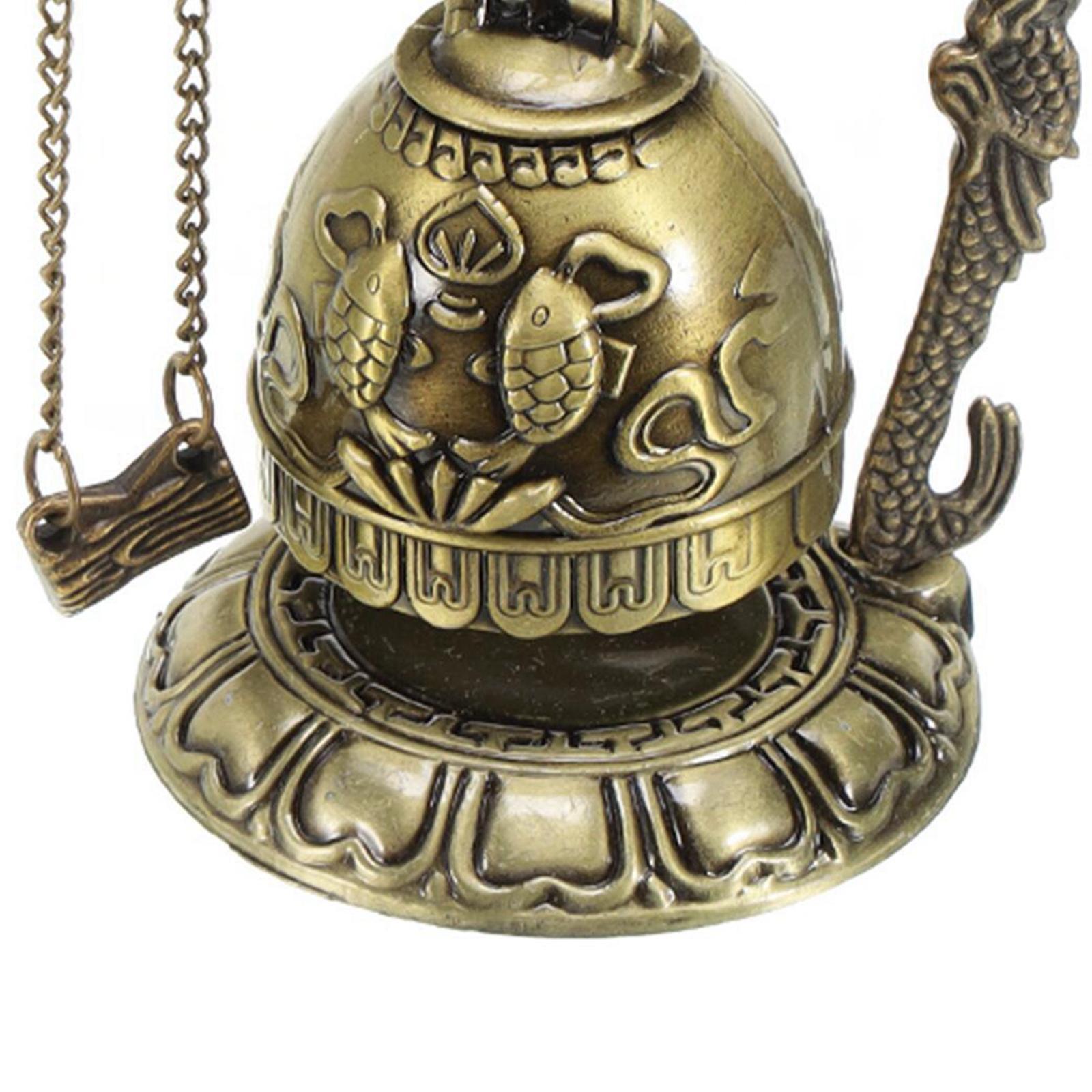 miniatura 41 - Buddha Drago Fengshui campana giocattoli tibetano per Home GIARDINO