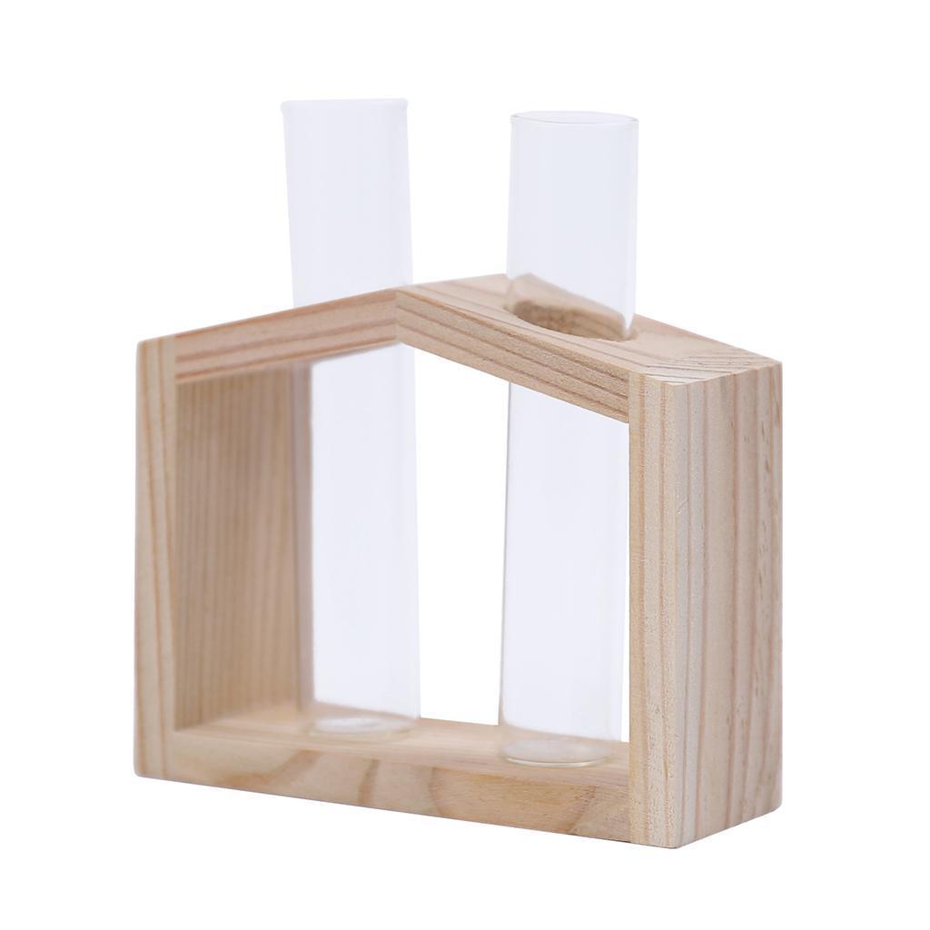 Indexbild 14 - Reagenzglas Vase Holzständer Blumentöpfe Home Planter für