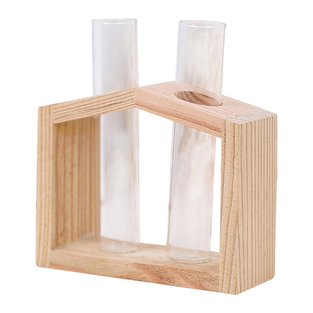Indexbild 18 - Reagenzglas Vase Holzständer Blumentöpfe Home Planter für
