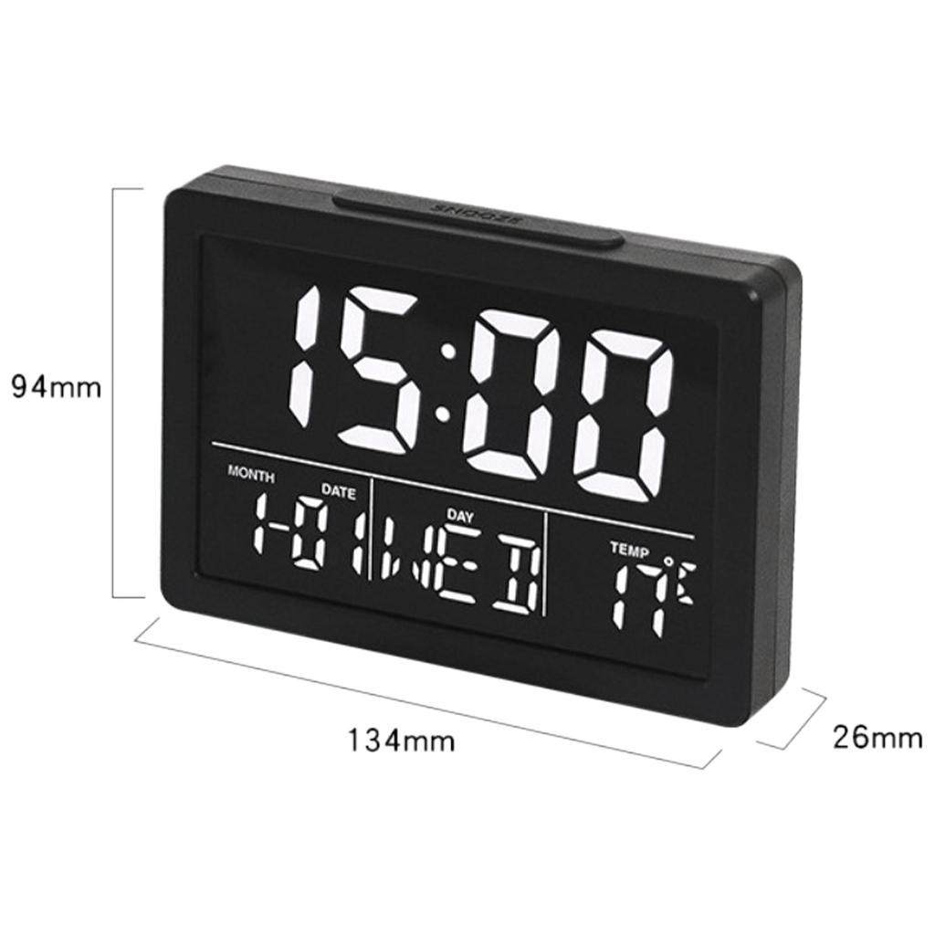thumbnail 15 - Mirror Alarm Clocks Snooze for Home Bedroom Kitchen Nightstand Office Decor