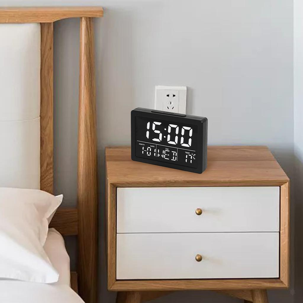 thumbnail 20 - Mirror Alarm Clocks Snooze for Home Bedroom Kitchen Nightstand Office Decor