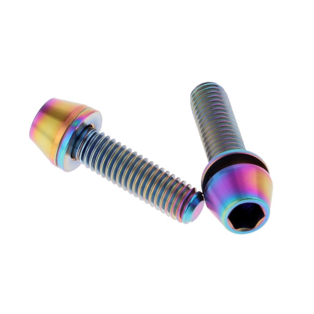 Pack-2-Vis-a-Tete-Conique-En-Alliage-Titane-En-Alliage-Titane-M5x16-18 miniature 28