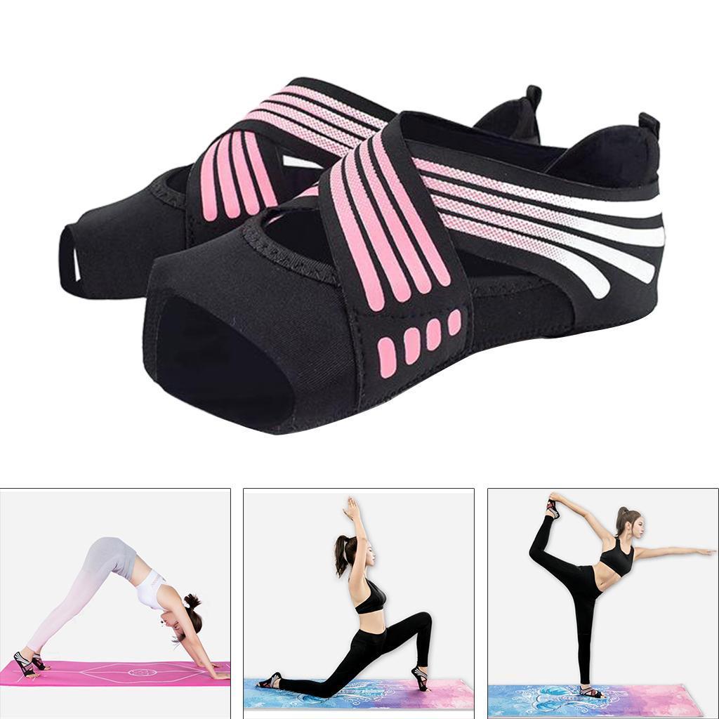 miniatura 7 - 1 Pair Delle Donne di Ballo di Formazione di Yoga Pilates Grip Calzini