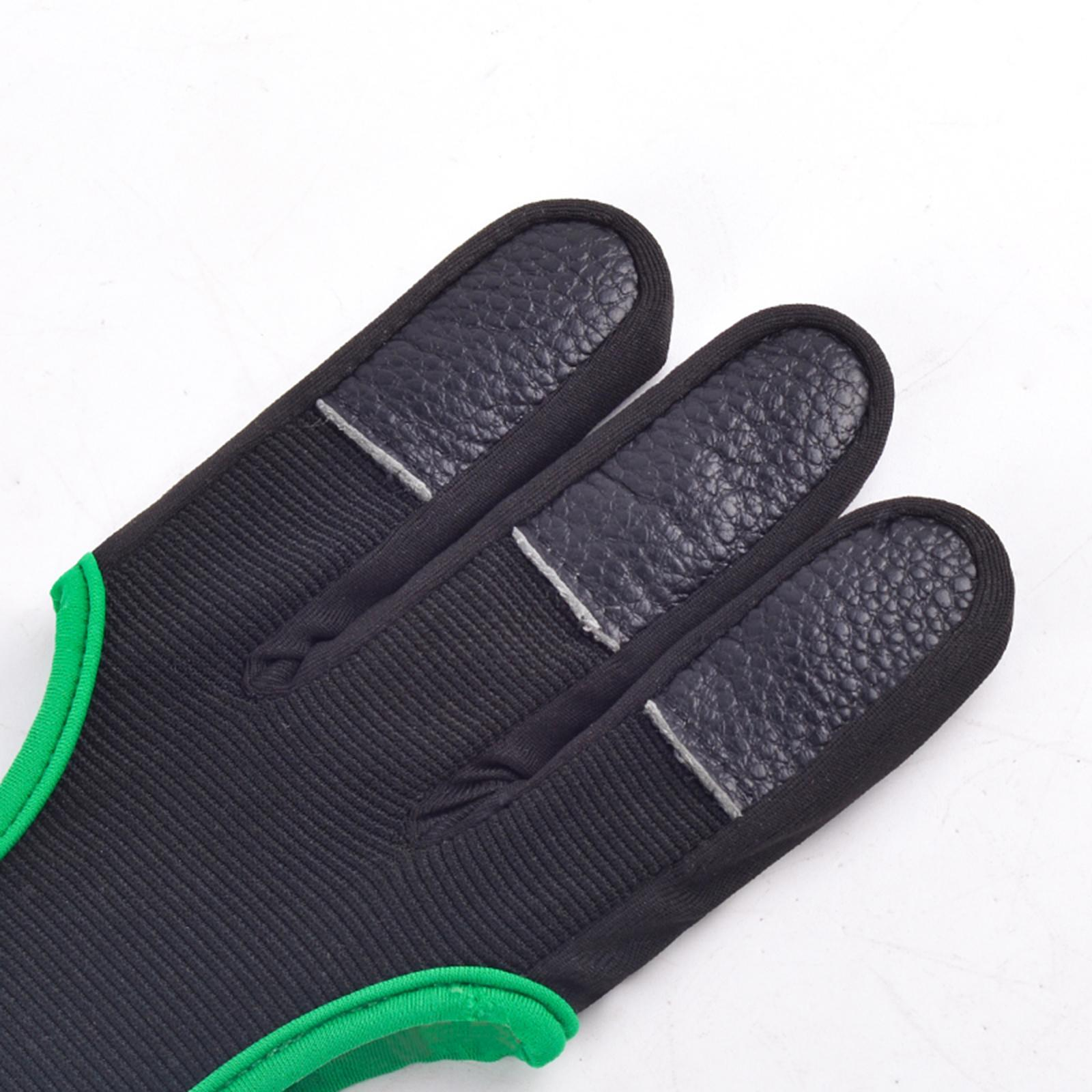 thumbnail 59 - Archery Glove for Recurve & Compound Bow 3 Finger Guard for Women Men Youth