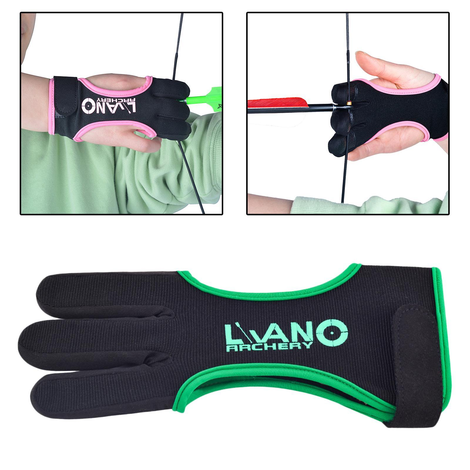 thumbnail 62 - Archery Glove for Recurve & Compound Bow 3 Finger Guard for Women Men Youth