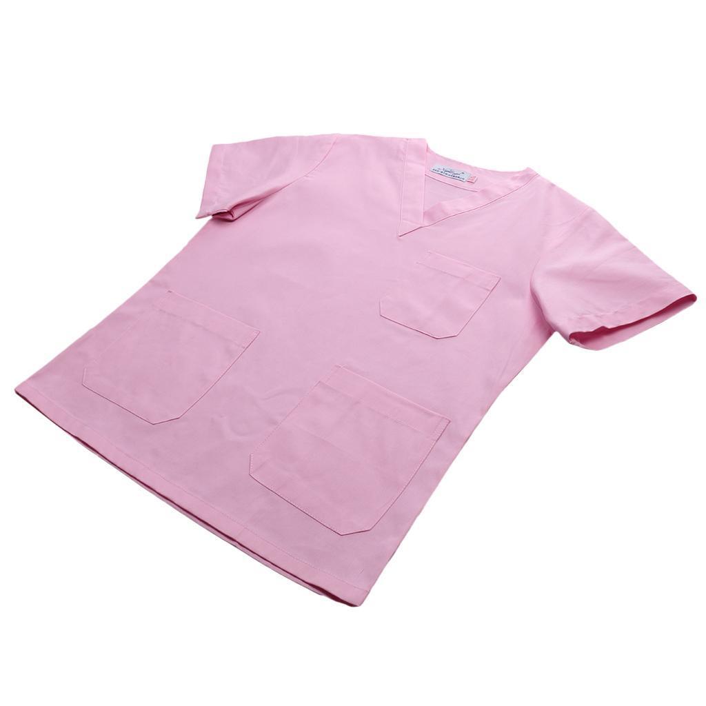 Men-Women-Scrub-Sets-Medical-Spa-Nursing-Clinic-Hospital-Uniform-Top-Pants miniature 38