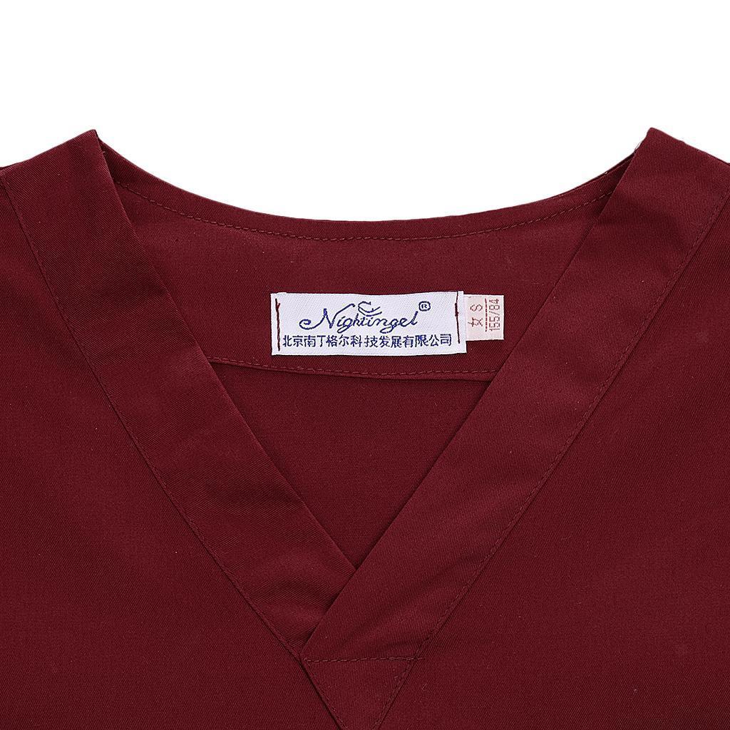 Men-Women-Scrub-Sets-Medical-Spa-Nursing-Clinic-Hospital-Uniform-Top-Pants miniature 71