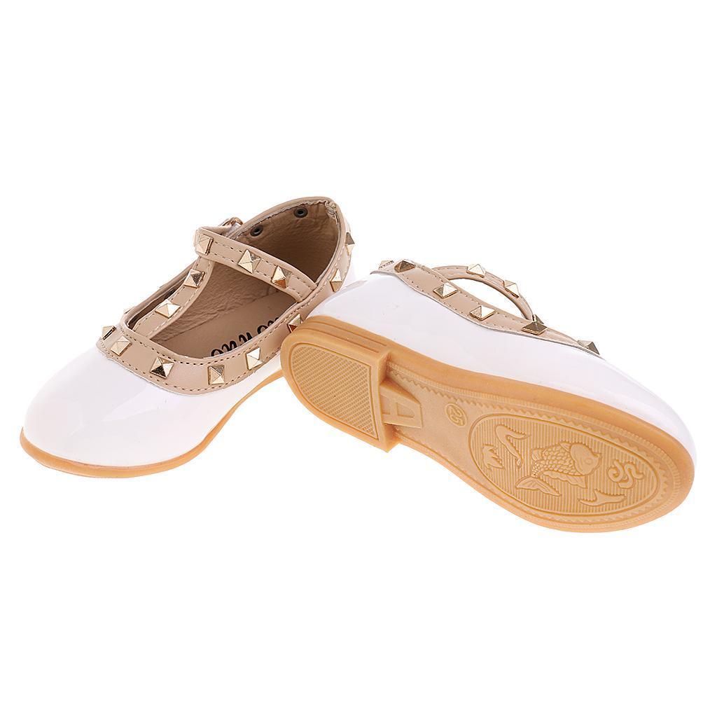 Chaussures-Pour-Enfant-Ballet-Sandales-Paire-Blanc-Accessoire-De-Danse-Fille miniature 7