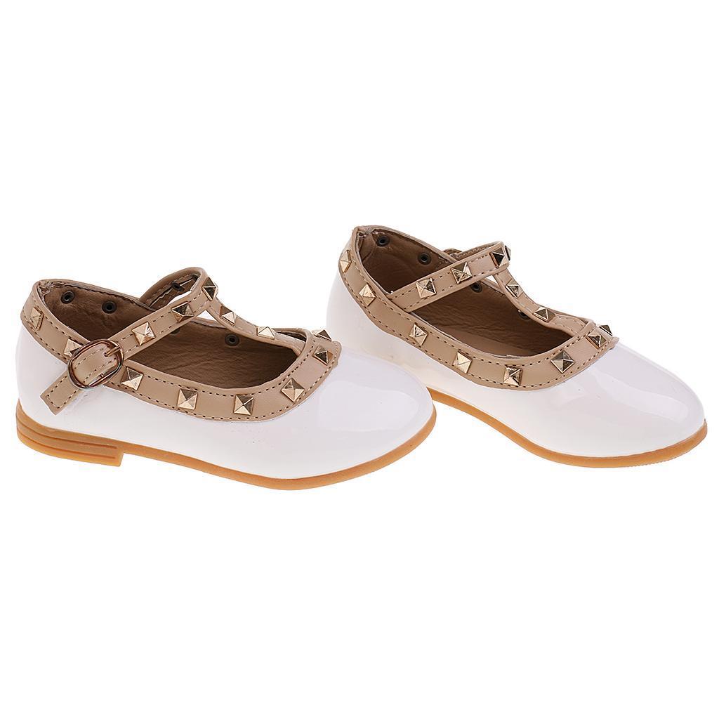 Chaussures-Pour-Enfant-Ballet-Sandales-Paire-Blanc-Accessoire-De-Danse-Fille miniature 8