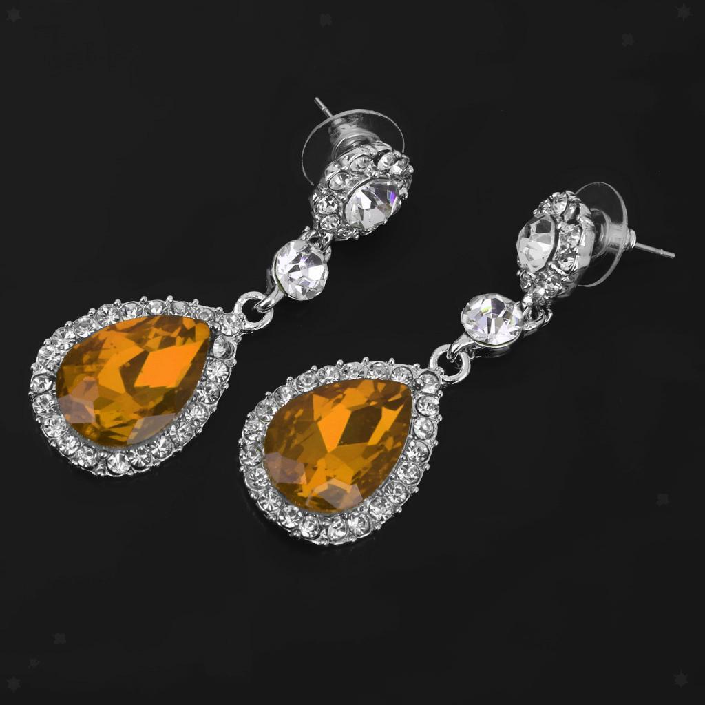 miniatura 3 - Orecchino con strass in cristallo a goccia per gioielli da ballo per feste