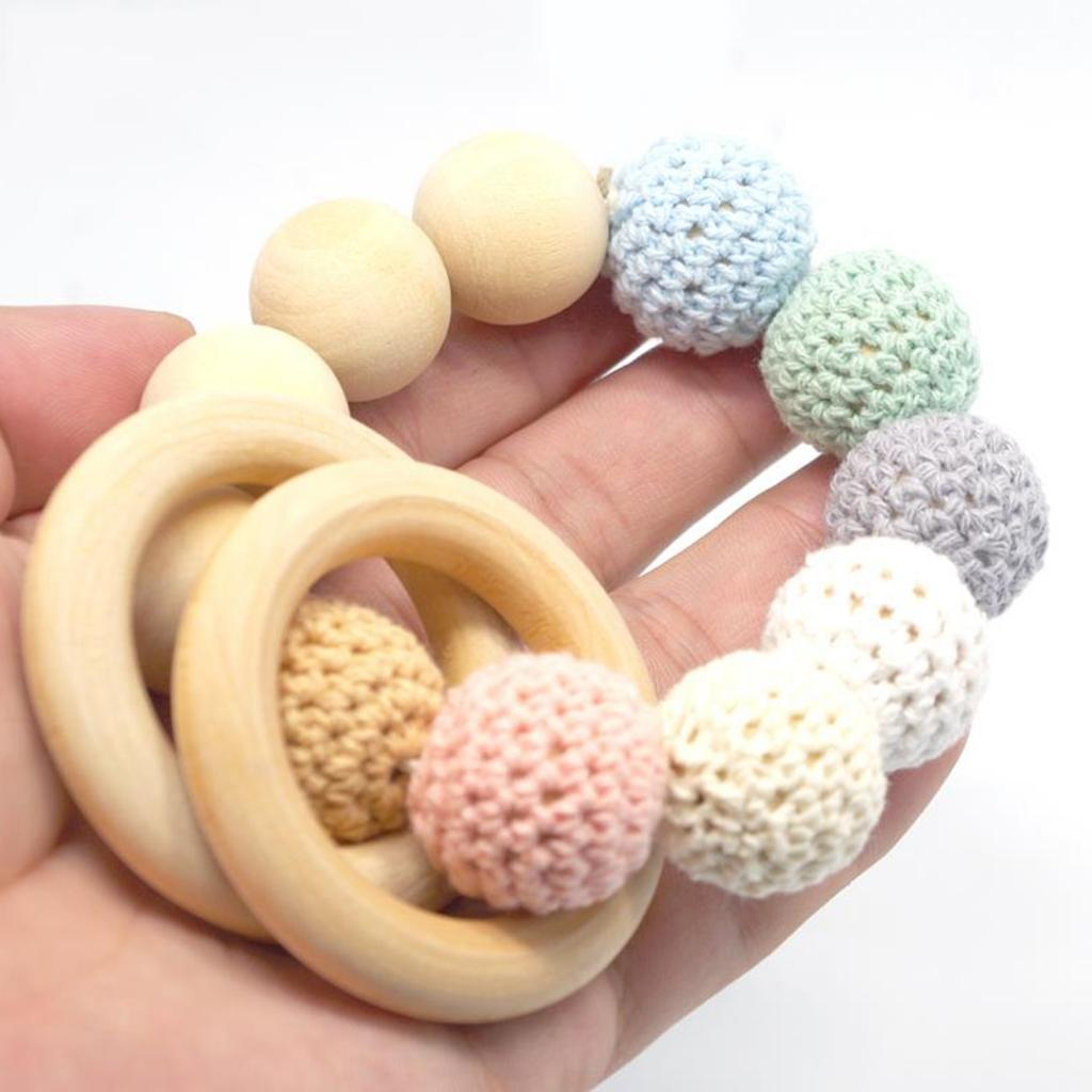 20Pcs-Multifunction-DIY-Teether-Rings-Wooden-Teething-Rings-for-Toddler-Toys thumbnail 4