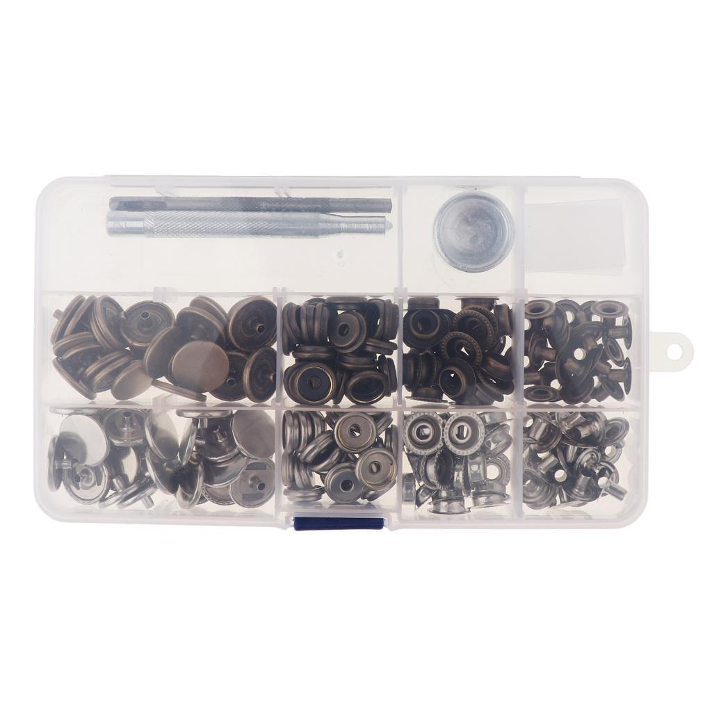 30-Sets-Leather-Craft-Snap-Fasteners-Button-Press-Studs-Clothes-Jeans-Fixing thumbnail 23