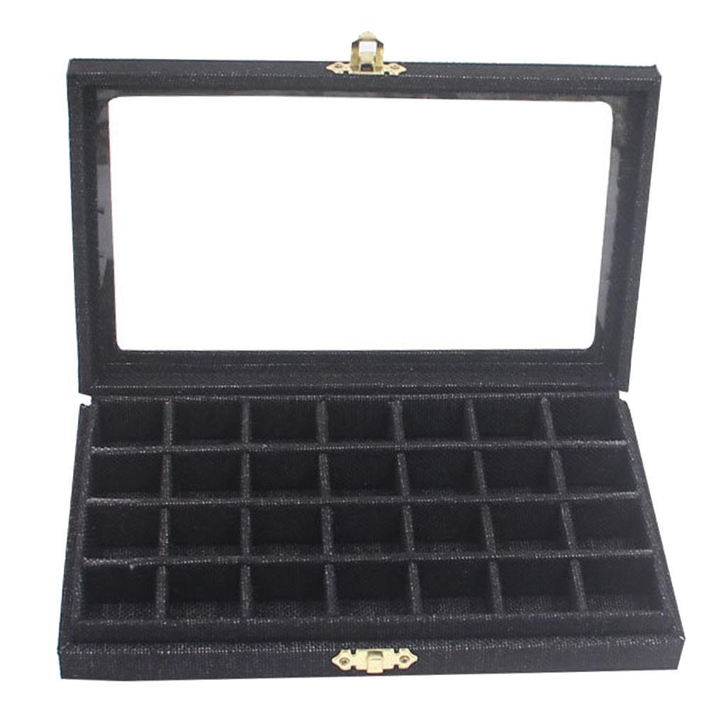 Plateau-a-Bijoux-en-Lin-Organisateur-de-Bijoux-Multifonctionnel-Excellent miniature 9