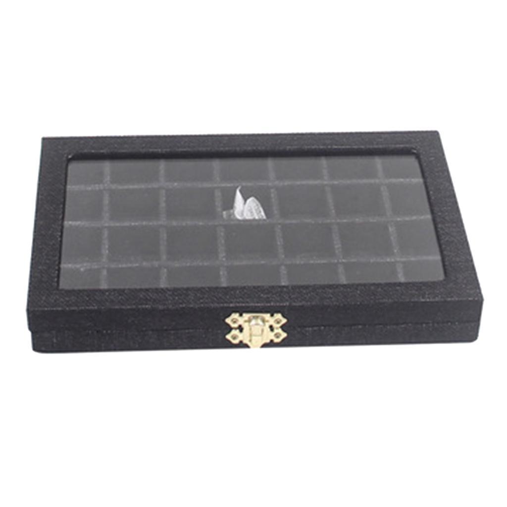 Plateau-a-Bijoux-en-Lin-Organisateur-de-Bijoux-Multifonctionnel-Excellent miniature 10