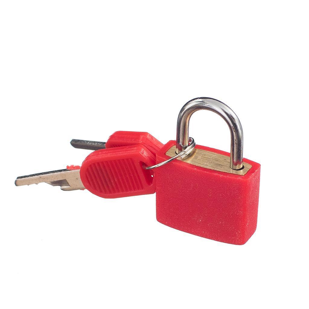 miniatura 12 - Lucchetto Piccolo Blocco Con 2 Chiavi Per Bagaglio Valigia Ventiquattrore