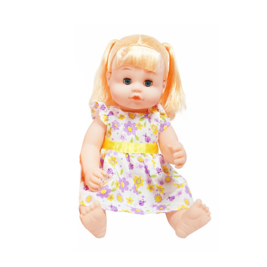 Vinyl Drink Potty Baby Boy Or Girl Doll Set Kids Parent