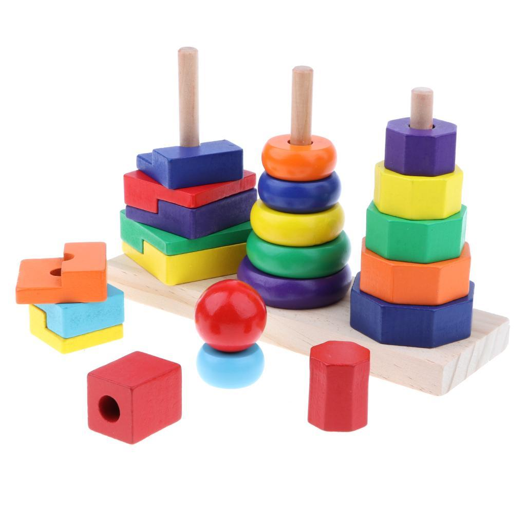Wooden-Colorful-Building-Blocks-Toys-Kit-for-Kids-Baby-Child-Present-IQ-DIY thumbnail 7