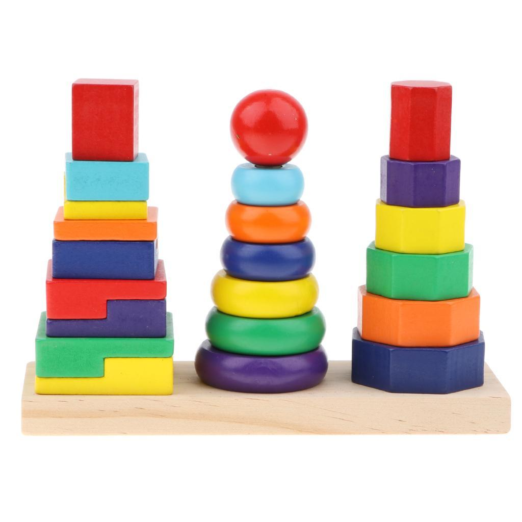 Wooden-Colorful-Building-Blocks-Toys-Kit-for-Kids-Baby-Child-Present-IQ-DIY thumbnail 6