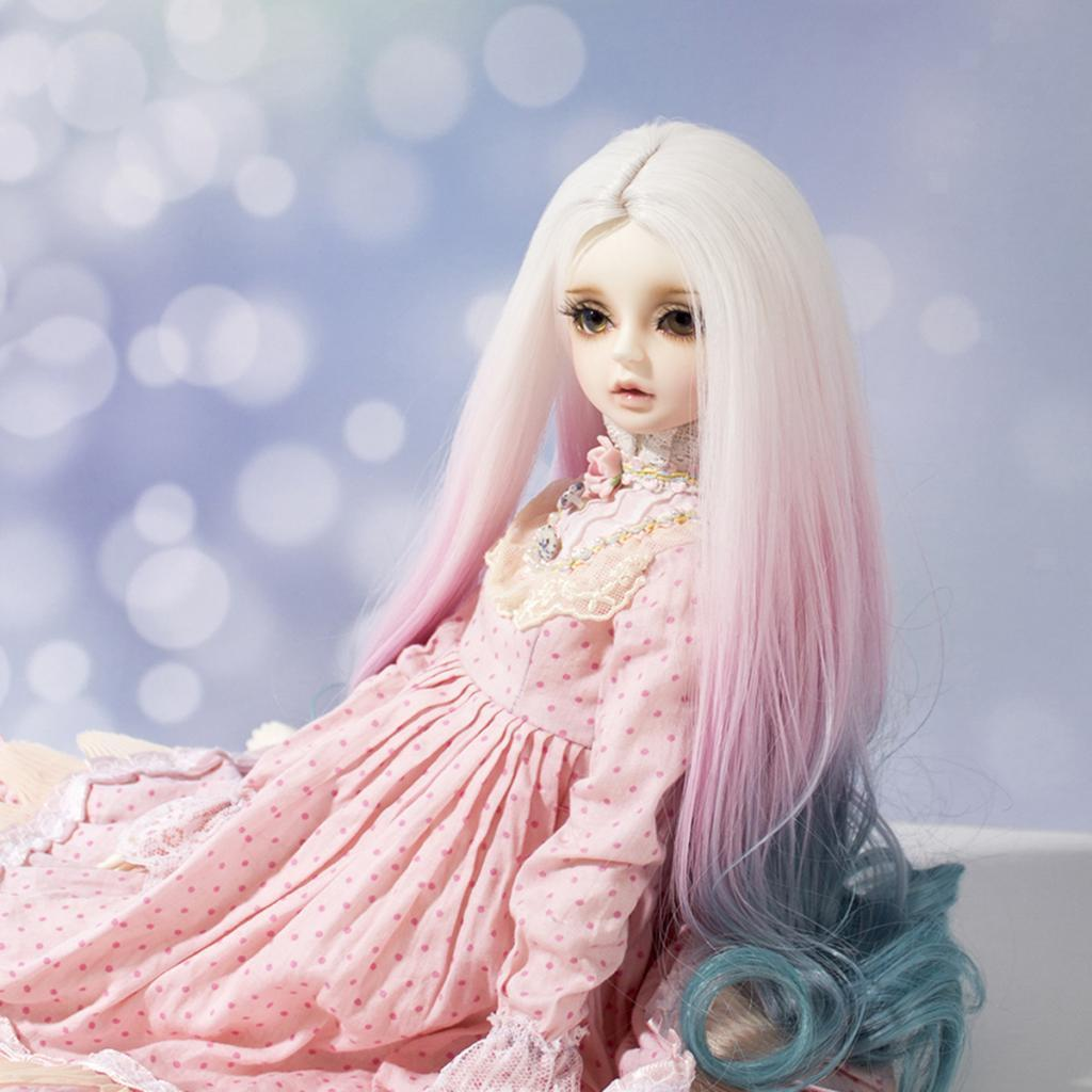 Long-Curly-Wig-30cm-for-Night-Lolita-for-Dollfie-for-MSD-1-3-1-4-BJD-Doll thumbnail 18