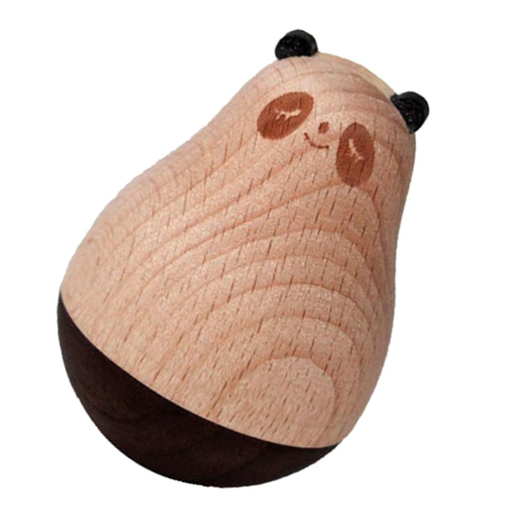Wooden-Tumbler-Craft-Wood-Animal-Figure-Toy-Office-Desk-Decor-Ornament thumbnail 12