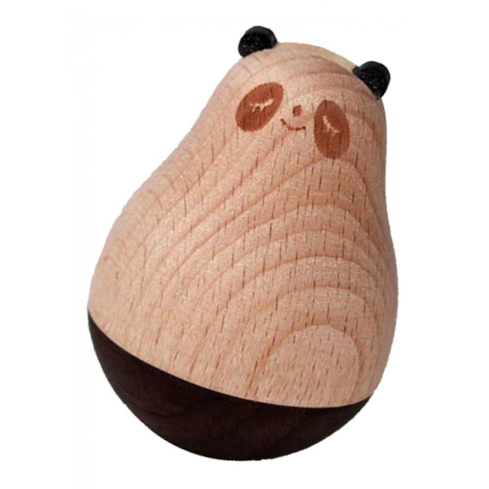 Wooden-Tumbler-Craft-Wood-Animal-Figure-Toy-Office-Desk-Decor-Ornament thumbnail 13