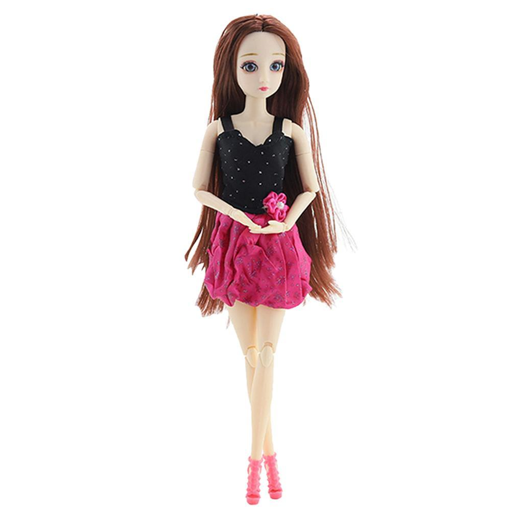 20-Ball-Joint-Dolls-3D-Eyes-w-Outfit-Fashion-Cute-Girl-Xmas-Gifts-White-Toy thumbnail 7