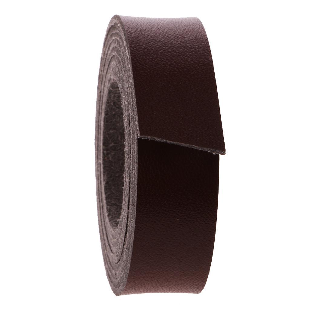 2 Meter Lang DIY Lederband Lederriemen Flach 15mm Kaffee// schwarz