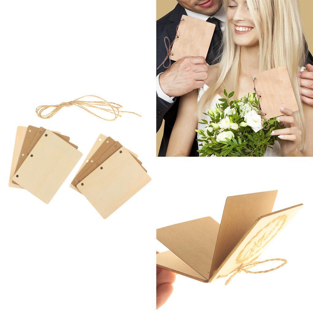 Indexbild 55 - Holz-Stueck-Holz-Tags-Zeichen-Unfinished-Hochzeit-Party-Favor-Geschenke-DIY