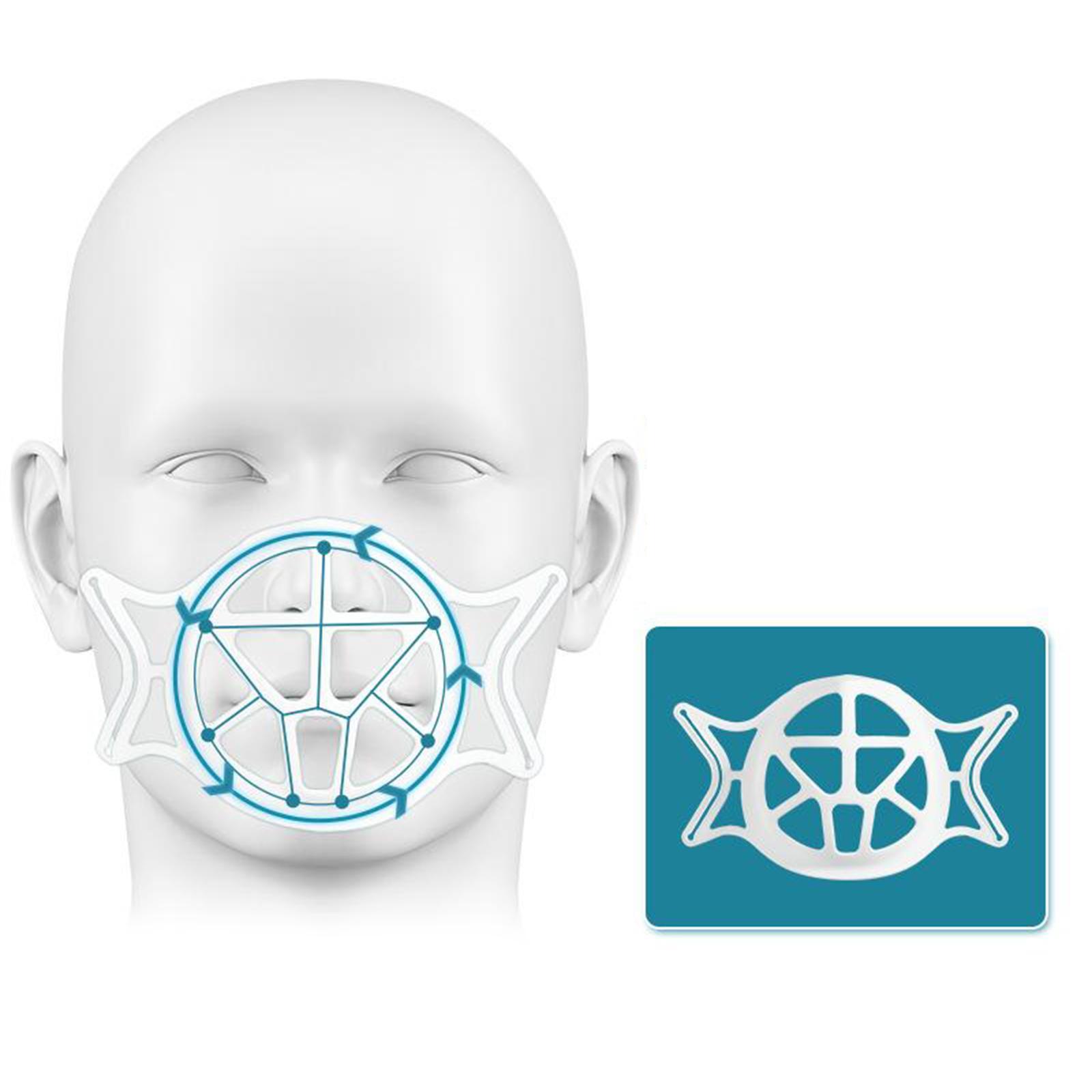 3D Face Mask Bracket Washable Support Holder Lipstick Protection Stand Rack