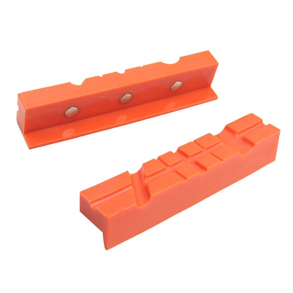 2pcs-Set-Magnetico-Morsa-Mascella-Pad-Covers-Protezioni-Multi-Scanalato-Morbido miniatura 4