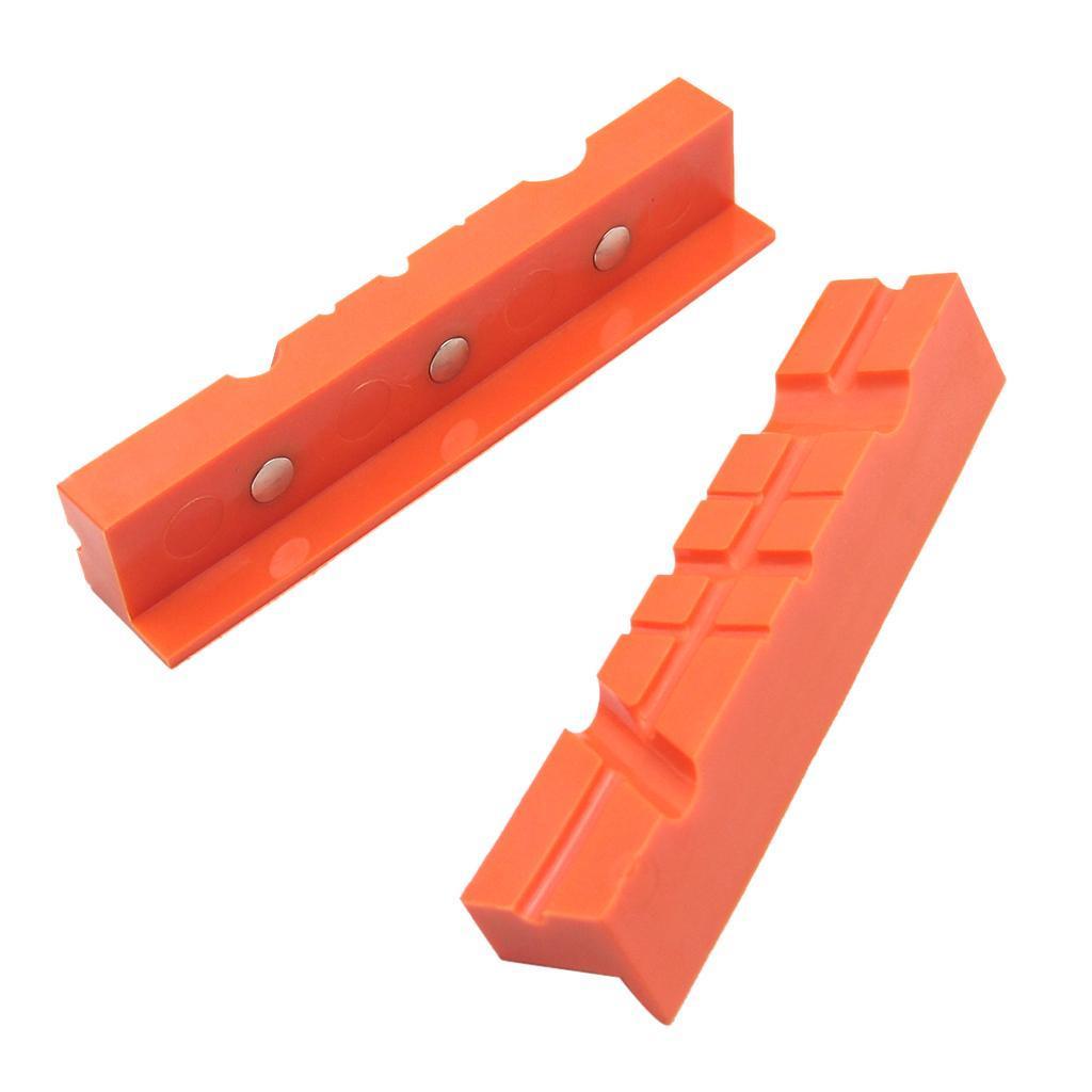 2pcs-Set-Magnetico-Morsa-Mascella-Pad-Covers-Protezioni-Multi-Scanalato-Morbido miniatura 5