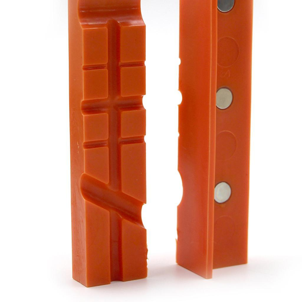 2pcs-Set-Magnetico-Morsa-Mascella-Pad-Covers-Protezioni-Multi-Scanalato-Morbido miniatura 9
