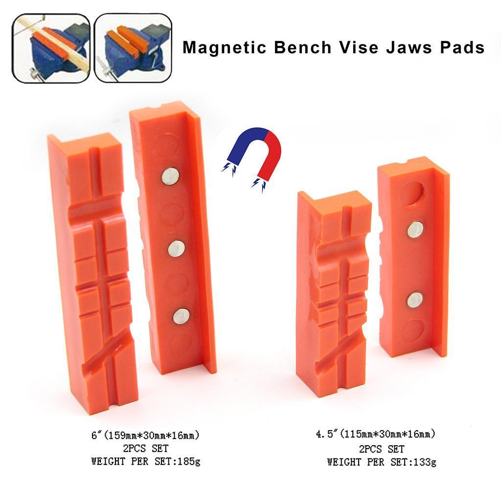 2pcs-Set-Magnetico-Morsa-Mascella-Pad-Covers-Protezioni-Multi-Scanalato-Morbido miniatura 7