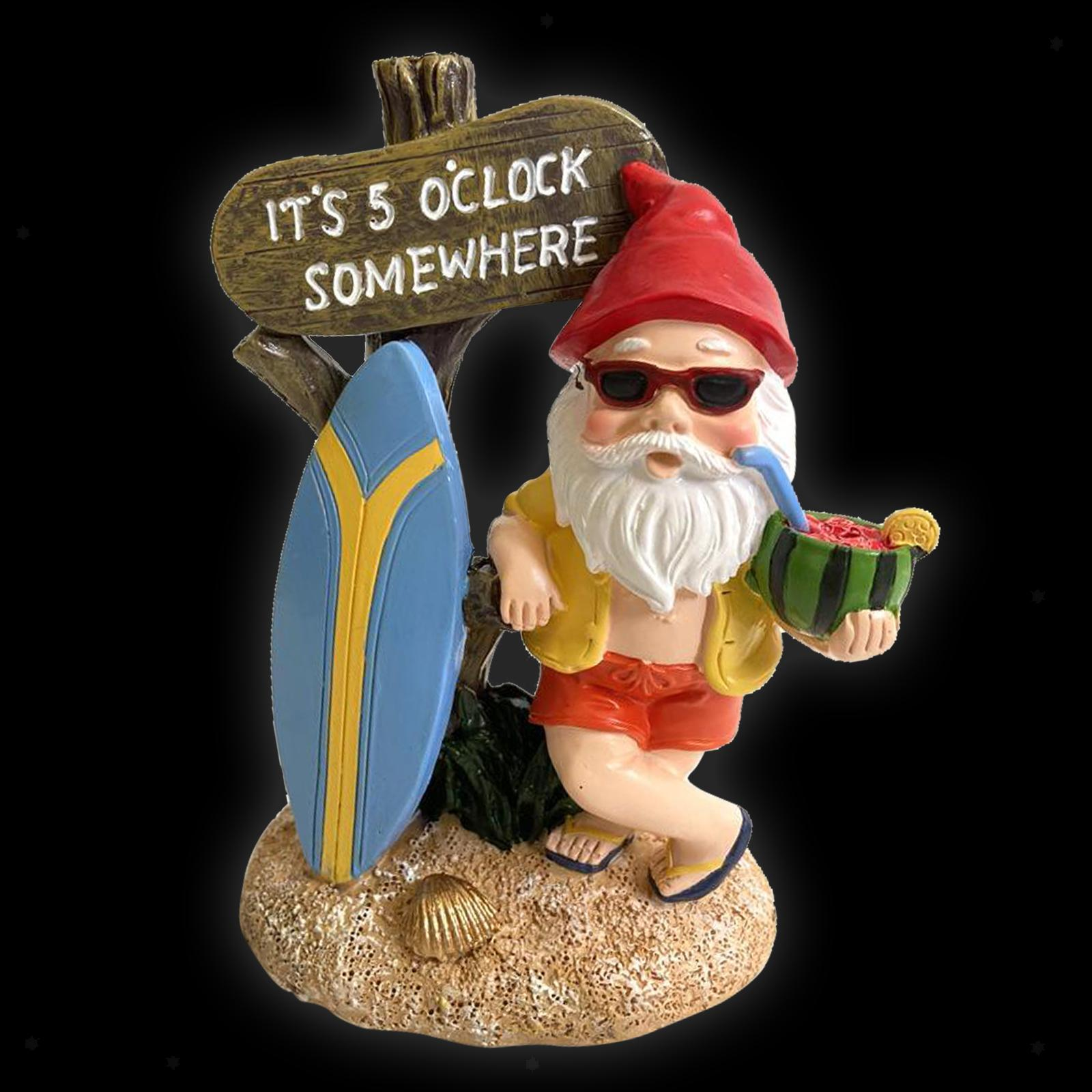 thumbnail 13 - Funny Resin Naughty Garden Gnome Statue Ornaments Villa Home Figurines Decor